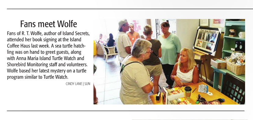 R.T. Wolfe book signing on Anna Maria Island.